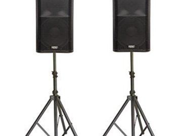 Rent: QSC k12 (x2) with Presonus AR12 mixer