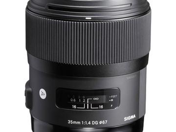 Rent: Sigma 35mm 1.4 Art
