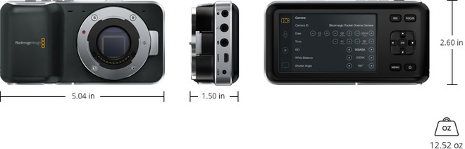 Blackmagic Pocket Cinema Camera, Shoulder Rig, 2 Lenses, LCD