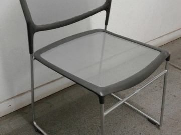 Rent: 30 Stackable Chairs w/ translucent mesh bottom and back
