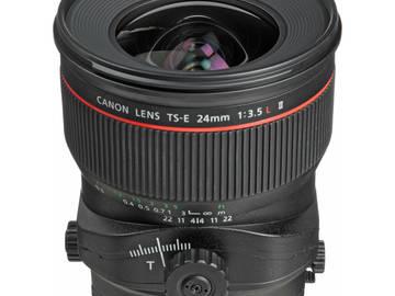 Rent: Canon 24mmL Tilt Shift Mk2