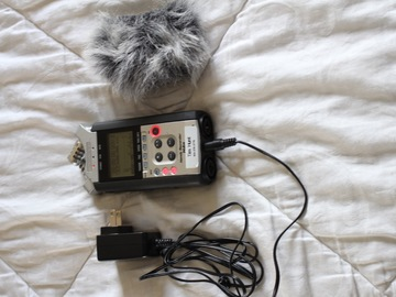 Rent: Zoom H4N Audio Recorder (2012 version) w/ AC adapter & furry