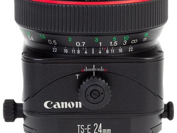 Rent: Canon L 24mm V2 Tilt Shift Lens (x3 available)