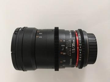 Rent: Rokinon 35mm T1.5 Cine DS Lens - Canon EOS Mount