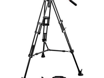 Rent: Manfrotto 504HD Head and 546B Tripod Kit w/ Carrying Case