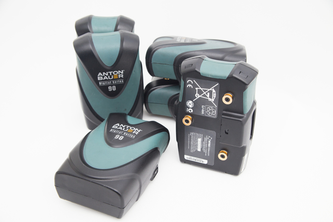 Anton Bauer Digital G90 Gold Mount Battery- Set of 6