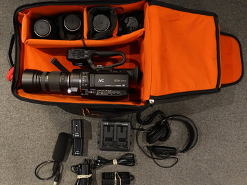 JVC GY 300 4k Camera Package with Rokinon Lenses