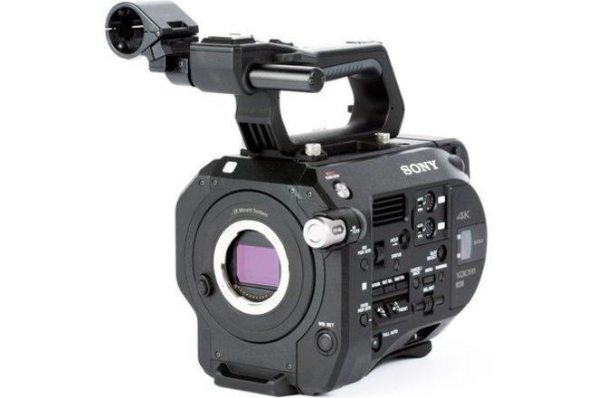Sony FS7 w/ media, batteries, and SHAPE shoulder rig