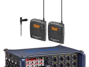 Rent: Zoom F8 Field Recorder w/ 4  Sennheiser G3 Wireless Lavs