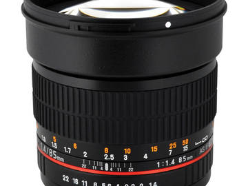 Rent: Canon 85mm f1.4 prime HD lens, EF mount