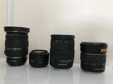 Rent: Full set or lenses for shooting ( 50 1.8, 85 1.4, 17-50 2.8)