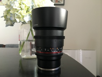 Rent: Rokinon Cine 85mm T1.5 - Sony FE mount