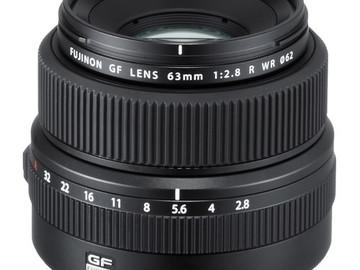 Rent: Fujifilm GF 63mm f/2.8 R WR Lens