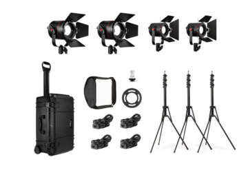 Rent: Fiilex K412 (4-Light LED Travel Kit)