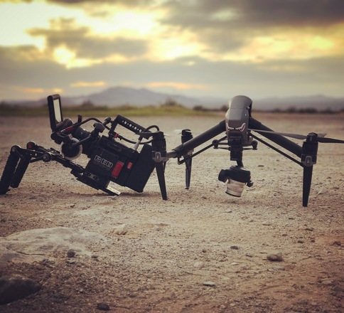 DP with RED Epic-W Helium 8K and Inspire 2 drone
