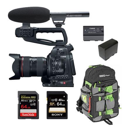 Canon C100 (w/ Cards, Lens, Microphone)
