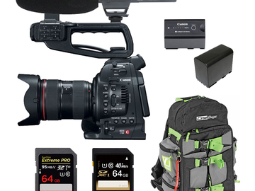 Rent: Canon C100 (w/ Cards, Lens, Microphone)