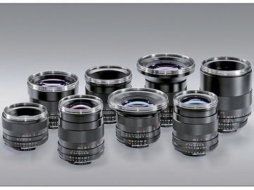 Rent: Full Set of Zeiss ZF Lenses 15,18,25,35,50,85,100,135mm