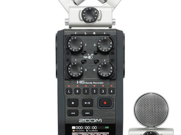Rent: Zoom H6 Handy Recorder with Microphone Attachments