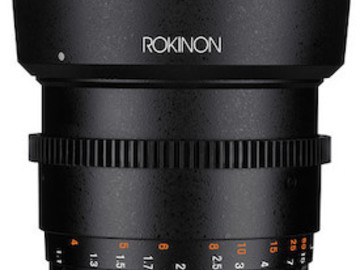 Rent: Rokinon 85mm Cine Lens - Sony E Mount