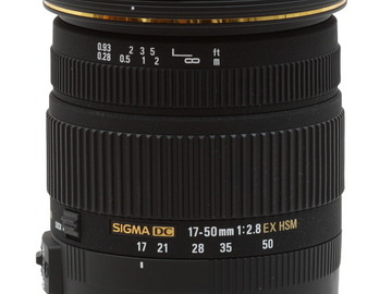 Rent: Sigma 17 - 50mm 2.8 EF canon mount