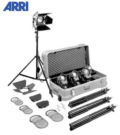 (4) Arri Tungsten Fresnel 300W/650W Combo kit