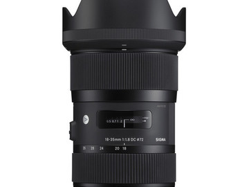 Sigma 18-35mm f/1.8 DC HSM Art with 72mm Tiffen 0.9 ND filte