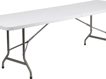 Rent: 5-   8ft. White Folding Table