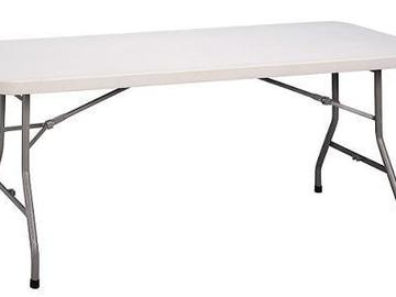Rent: 6-    6ft. White Folding Table