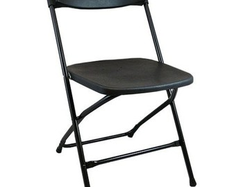 Rent: 22- black folding chairs