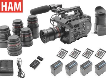 Rent: Sony FS7 | 6-Rokinon Lens Set | 4x 128GB | 4x Batteries
