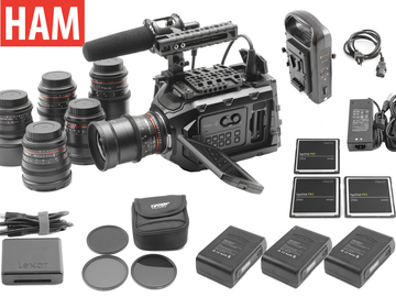 Rent: Ursa Mini 4.6K Canon EF | 6-Rokinon Lens Set | 3x 256GB