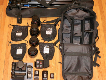 Cine-ready kit w/ Sony a7SII, Rokinon Lenses, Tripod, etc.