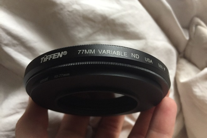 Tiffen 77mm Variable Neutral Density Filter w/ 52mm Adapter
