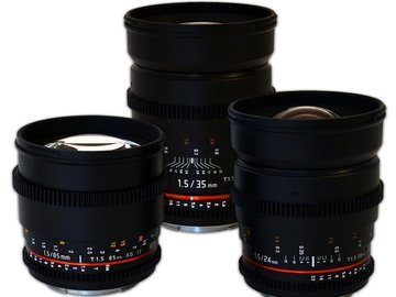Rent: EF Mount Cine Lenses with Filters and M4T Adapters