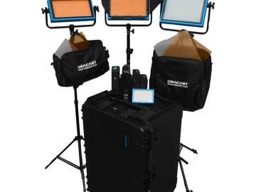 Dracast ENG Bi-Color 4-Light Kit with Sony V-Mount Battery P