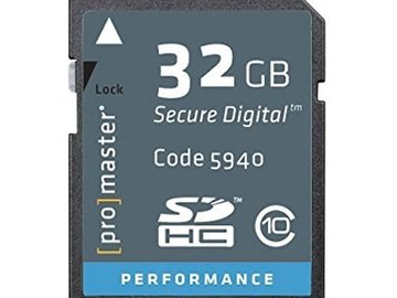 Rent: Promaster 32gb Memory Card