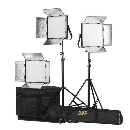 3x Soft LED lighting Kit Ikan Lyra 1x1 Bi-Color