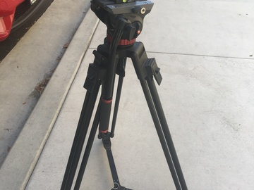 Rent: Cartoni Legs + Manfrotto MVH502A Video Head