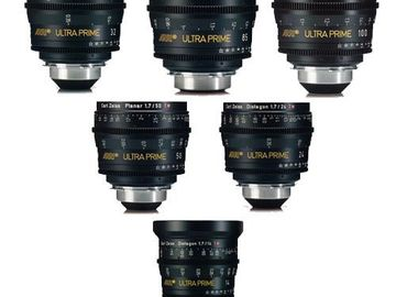 Rent: Arri Ultra Prime 6x Lens Set (14, 24, 32, 50, 85, 100)