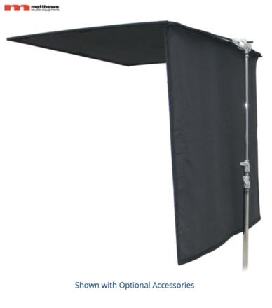 (2) Matthews 4x4 Black Floppy Flags