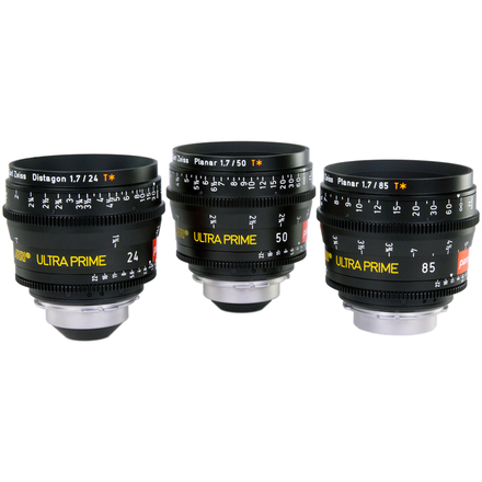 ARRI Zeiss ULTRA PRIMES (3 x Brand New Lenses in Pelicase)