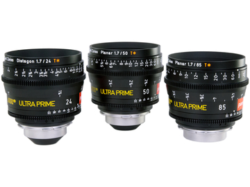 Rent: ARRI Zeiss ULTRA PRIMES (3 x Brand New Lenses in Pelicase)