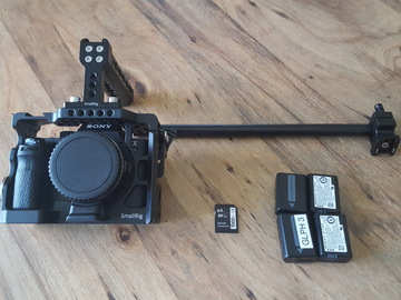 Rent: Sony Alpha a7S II w/ EF Adapter + 4 batteries + Cage + Media