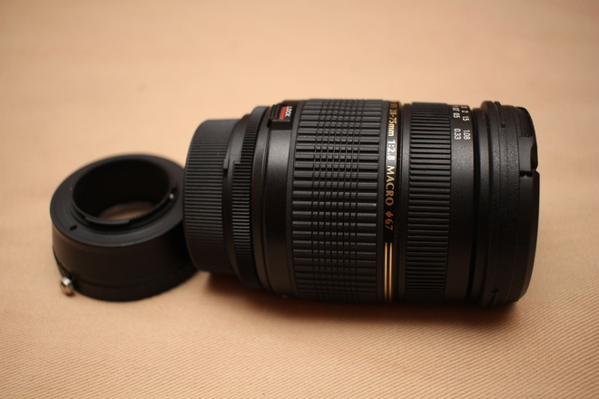 Tamron 28-75mm for Nikon plus Fotodiox Adapter Micro 4/3