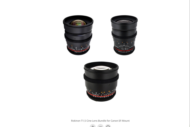 Rokinon Cinema DS, T-1.5 Lens kit 35mm and 85mm