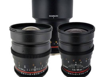 Rent: Rokinon Cine Lens Set (EF Mount) - 3 Lenses