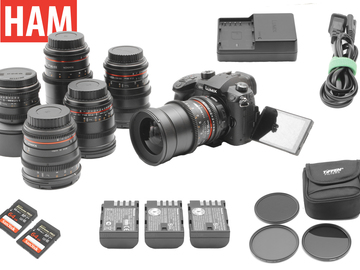 Rent: Panasonic Lumix GH5 V-Log | 6-Lens Rokinon Cine-DS Lens Set