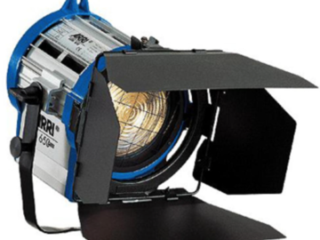 Rent: (2) Arri Tungsten Fresnel 650W Combo Kit