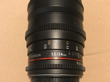Rent: Rokinon Cine DS Lens Set 24mm, 50mm, 85mm w/ Vari ND